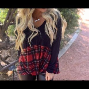 Women's Plaid (Red) Top